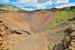 Khorgo Volcano Crater, Central Mongolia Stock Photos