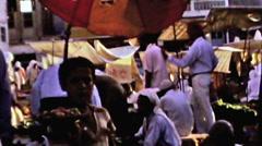 Bahrain public market boy sells fruits vintage film 1960 HD D001 Stock Footage