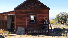 Old Home in the Mojave Desert Stock Footage