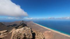 4k UHD time lapse panorama pan view fuerteventura 11221 Stock Footage