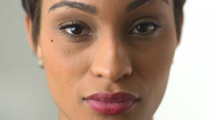 Close up of African American woman - stock footage