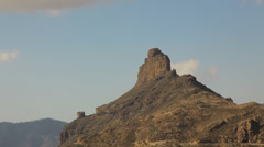 Roque Nublo and Landscapes in the southern part of Canary island Gran Canaria Stock Footage