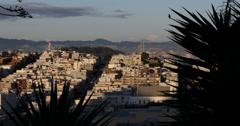 Ultra HD 4K Sunset San Francisco Skyline California Oakland Bay Bridge vilkas ka Arkistovideo