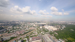 Cityscape with Butyrskiy district at summer in Moscow, Russia Stock Footage