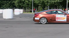 Extremal driving by stuntman during Speedfest - stock footage