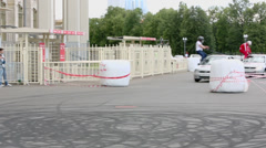 Stunt performance of team Avtorodeo Togliatti Trick Stock Footage