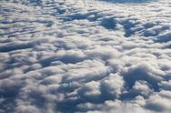 Stock Photo of background of clouds - view from the plane
