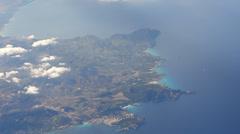 Majorca Cala San Vicenc Cap Formentor aerial HD Stock Footage