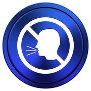 Stock Illustration of no talking icon