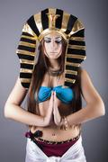 Cleopatra queen of egypt - stock photo