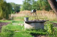 Stock Photo of old draw-well in the country