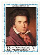 portrait of beethoven in 1815 - stock photo
