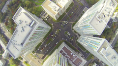 Complex of living blocks with parking lots during the day Stock Footage