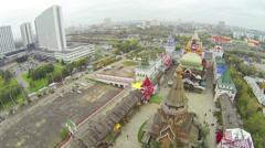 City panorama with Kremlin in Izmailovo. Stock Footage