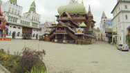 Stock Video Footage of Old style architecture palace in inner courtyard