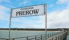 Stock Photo of prerow pier sign