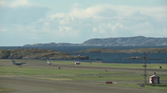 Norweigan F-16 Falcon taking off Stock Footage