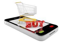 Online market Stock Illustration