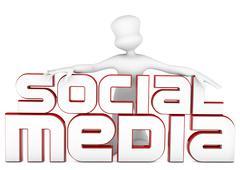 3d social media Stock Illustration