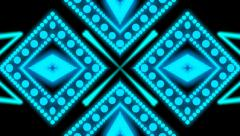 blue dotted decoration - stock footage