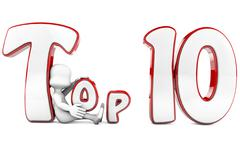 Stock Illustration of top 10 award