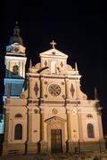 Basilica of Mary Help of Christians - Brezje Stock Photos