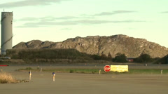 Norweigan F-16 Falcon taxiing for take off Stock Footage