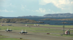Sweden's JAS-39 Gripen taking off Stock Footage