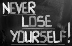 Never lose yourself concept Stock Illustration