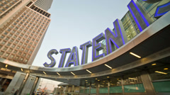 Stock Video Footage of Staten Island Ferry Terminal