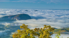 View of Looking Glass Rock from the Blue Ridge Parkway Stock Footage