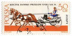 chaise - old carriage (xviii-xix century) - stock photo