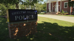 Shelter Island Police Station Stock Footage