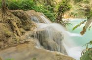 Stock Photo of kuang si waterfalls at laos.