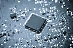 integrated circuit - stock photo
