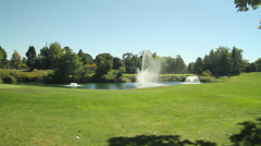 Beautiful fountain in a sunny park (3 of 8) Stock Footage
