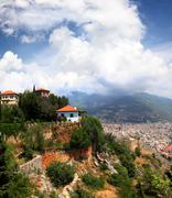 View on alanya city from top of mountain Stock Photos