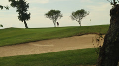 Bunkers near the green (4 of 4) Stock Footage
