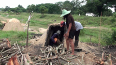 Traditional Charcoal Production - 17 Stock Footage