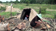Traditional Charcoal Production - 7 Stock Footage