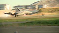 RAF Lakenheath's F-15Cs and Strike Eagles Stock Footage