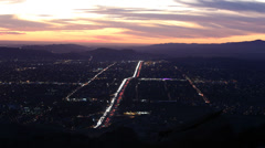 Simi Valley Dusk Time Lapse Stock Footage