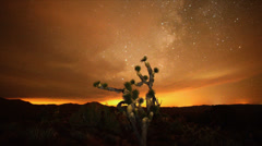 Time Lapse of the Night Sky Mojave Desert -  Timelapse Stock Footage