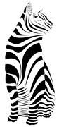 Cat Striped Silhouette Stock Illustration