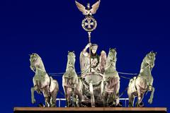 The Quadriga at night - stock photo