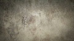 Christian symbol appearing on a wall - stock footage