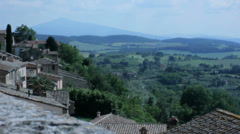Rooftops of Montepulciano Tuscany Italy - 29,97FPS NTSC Stock Footage