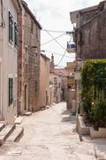 Stock Photo of narrow street in makarska