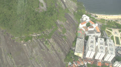 022 Rio, Helicopter flight above Rio, aerial, beach, hotels, town Stock Footage