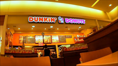 Dunkin Donuts Mall Stock Footage